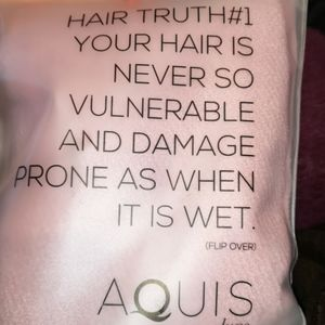 AQUIS Luxe Pink Hair Towel NEW